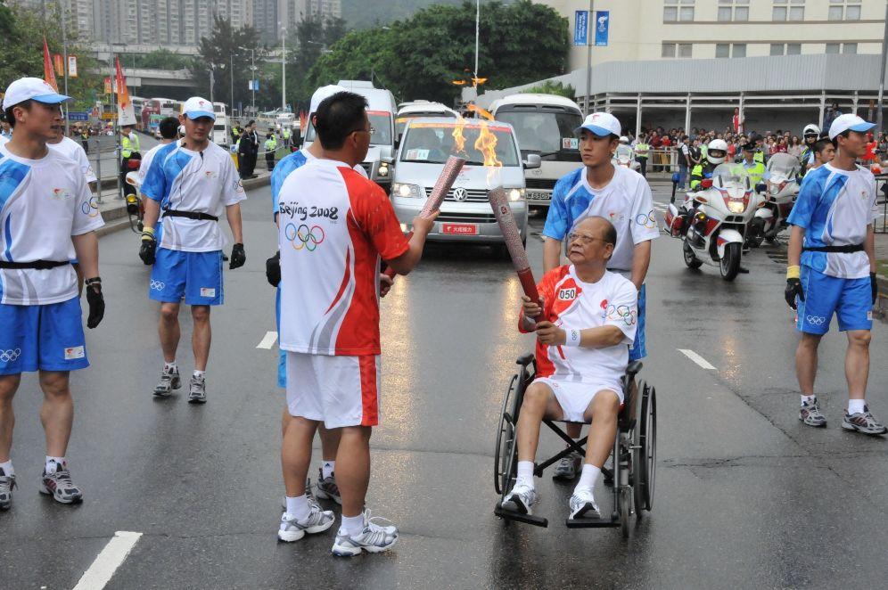 曾宪梓曾任2008年北京奥运会火把脚 材料图