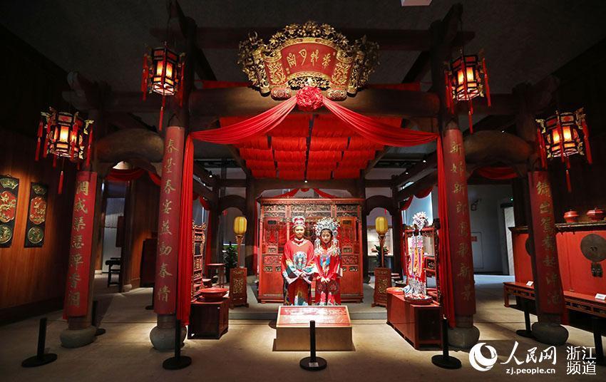 浙江宁海:十里红妆文化园开园