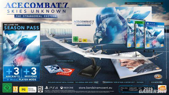 《皇牌空战7:未知空域》典藏版公布 包含一架500克的金属飞机模型