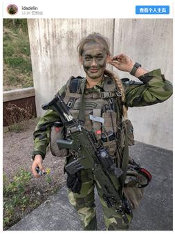 自称去自瑞典武拆队伍的INS用户晒照