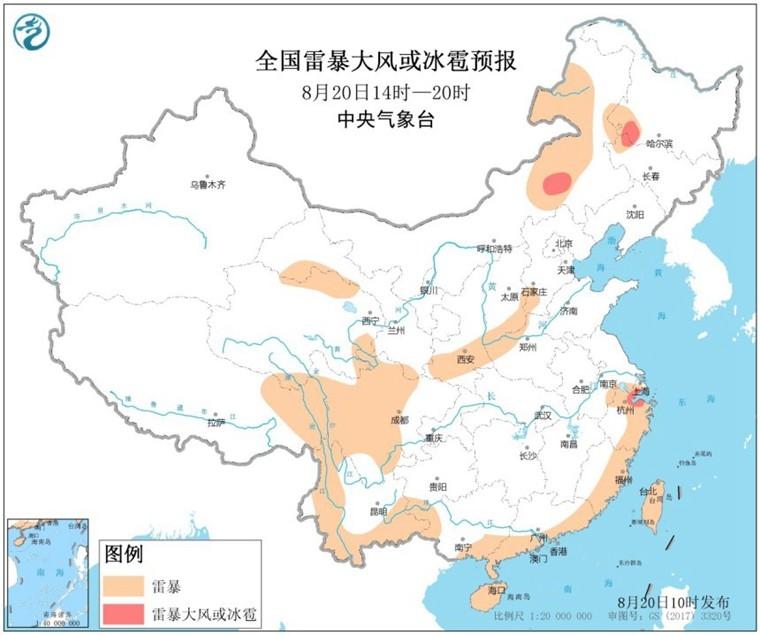 全国10省区有短时强降水 内蒙古吉林黑龙江局地有雷暴大风或冰雹