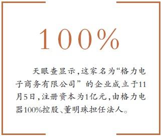 格力成立电商公司 董明珠亲自任法人