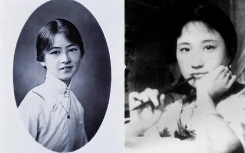 左:林徽因 右:陆小曼