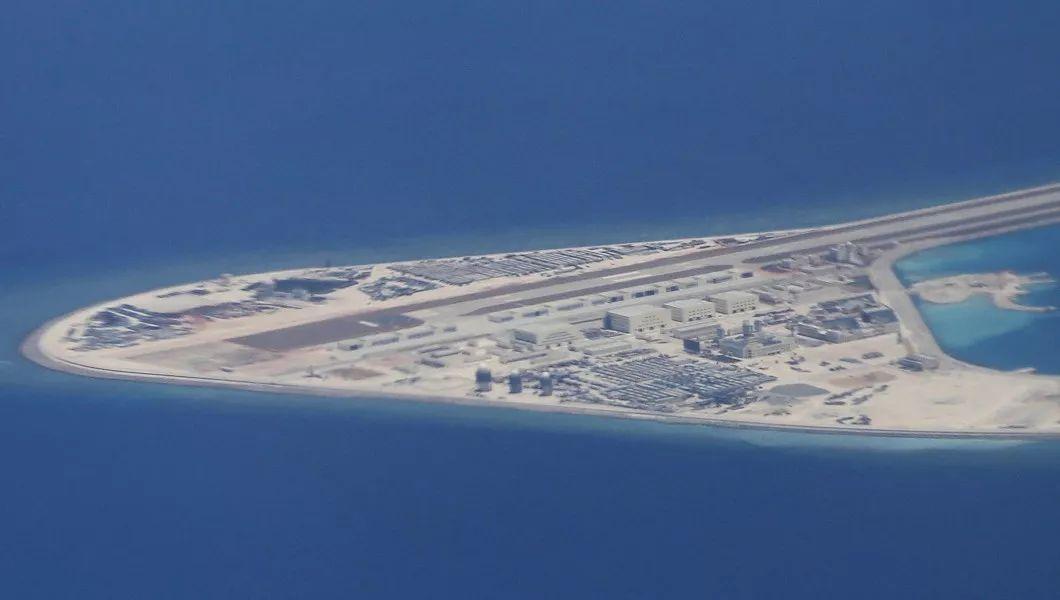 美国媒体刊登的南海岛礁卫星图