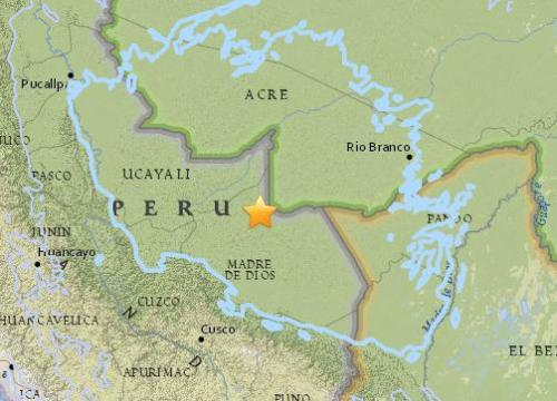 秘鲁东部发生7.1级地震 暂无伤亡和损失报告