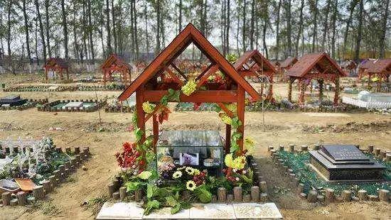 ▲某地的宠物豪华殡葬。