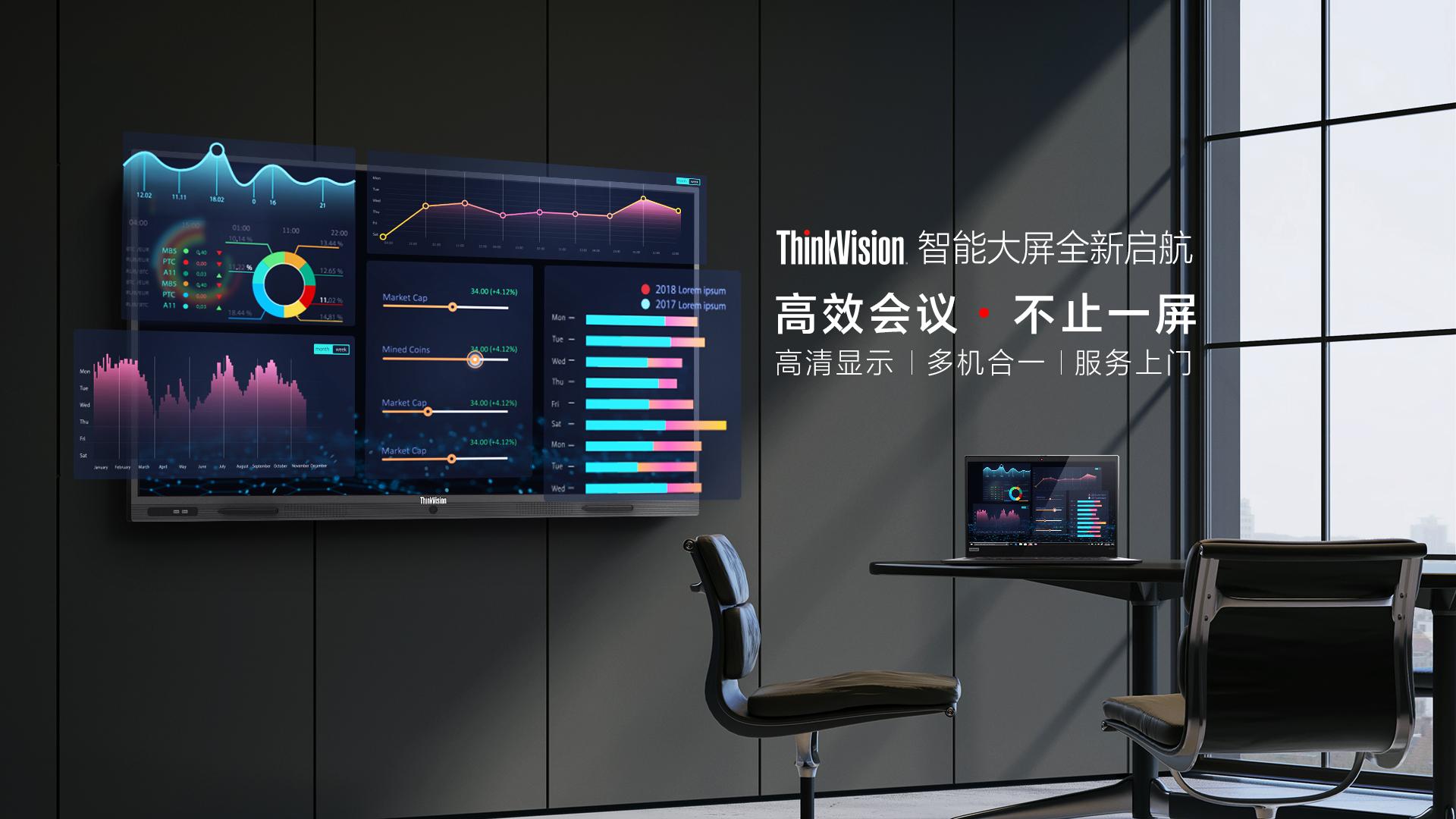 联想发布ThinkVision智能大屏:智能触控 可圈可点