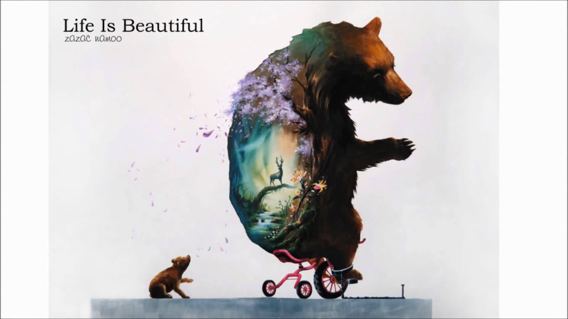 《美丽的生活》 赏心悦目的梦幻母子情, (美术视频)分享。