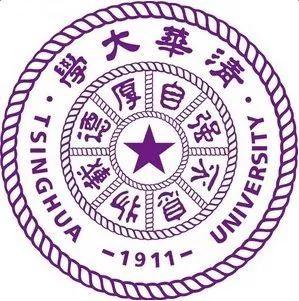 """△清华大学校徽上的""""Tsinghua""""字样"""