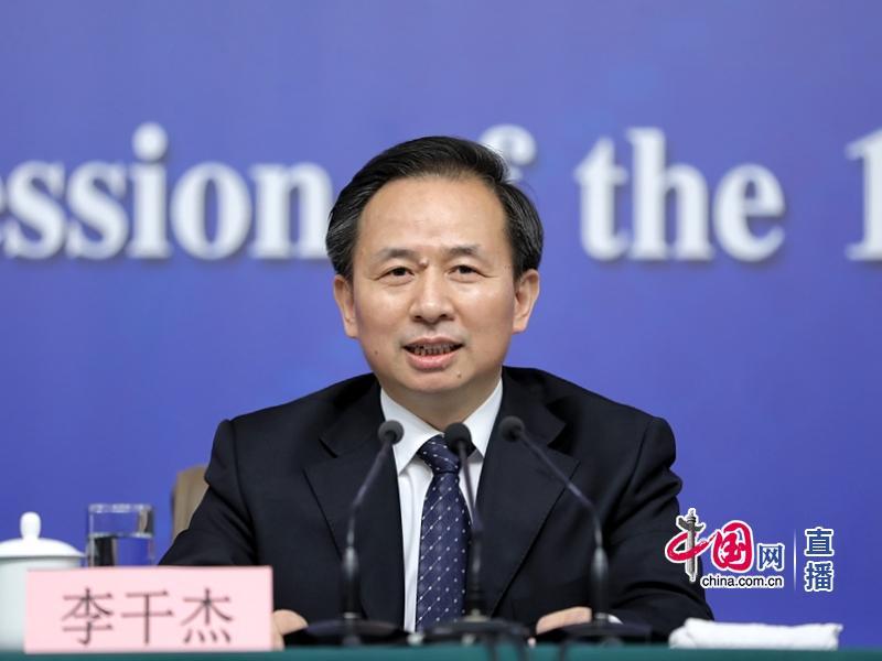 今年两会期间,环保部部长李干杰参加记者会(中国网 图)