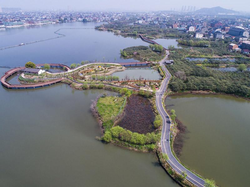 这是3月27日使用无人机航拍的余杭区乡村旅游步道塘超小径.