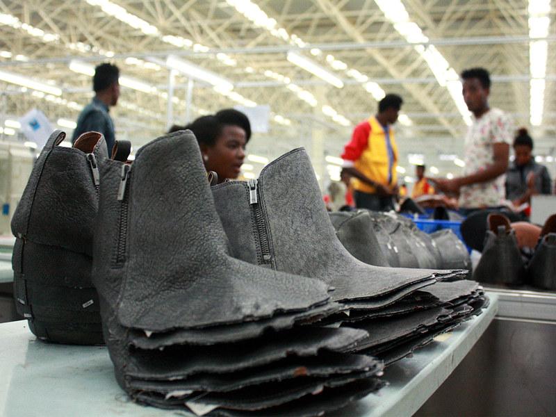 华坚在埃塞俄比亚的工厂 图源:CNN