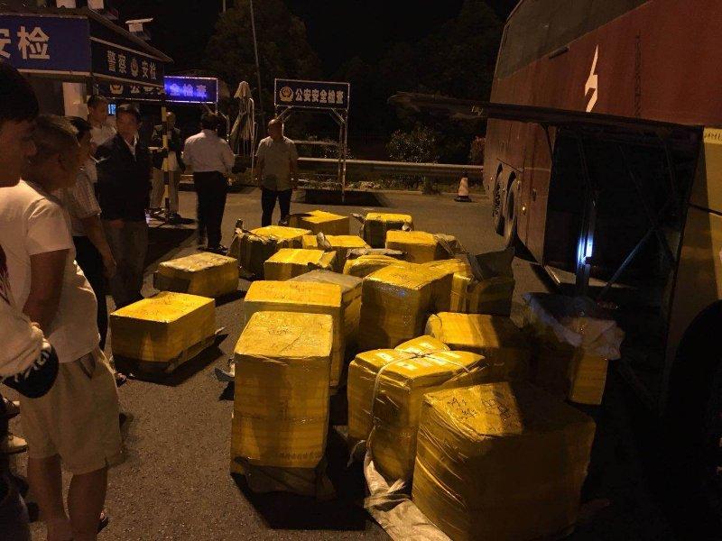 南京交警查扣58箱近2.5吨生猪肉