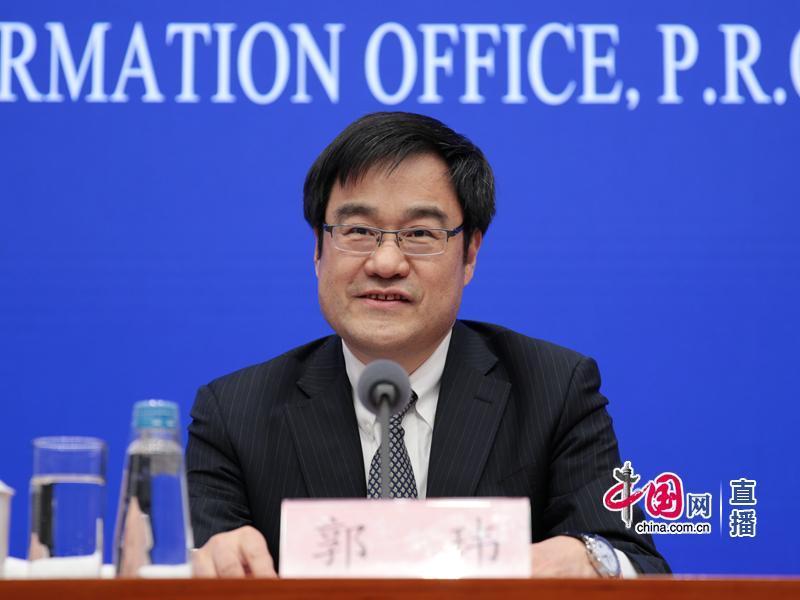 《政府工作报告》起草组成员、国务院研究室副主任郭玮(中国网 宗超 摄)