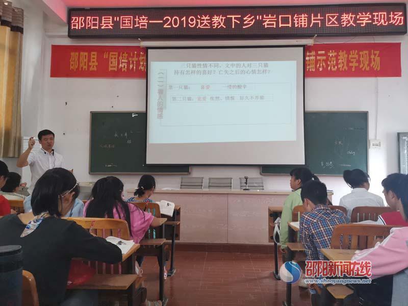 邵阳县送教培训初中语文岩口铺片区教学活动开启