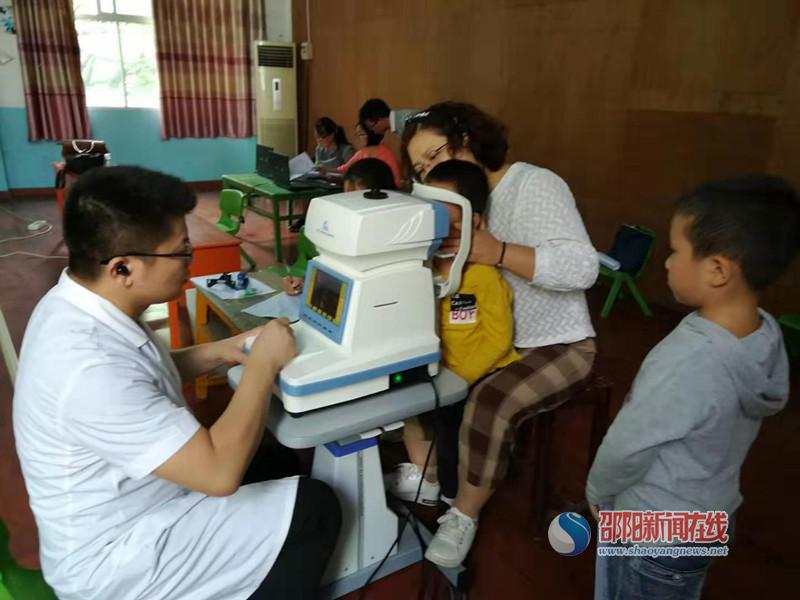 城步机关幼儿园开展幼儿视力筛查活动