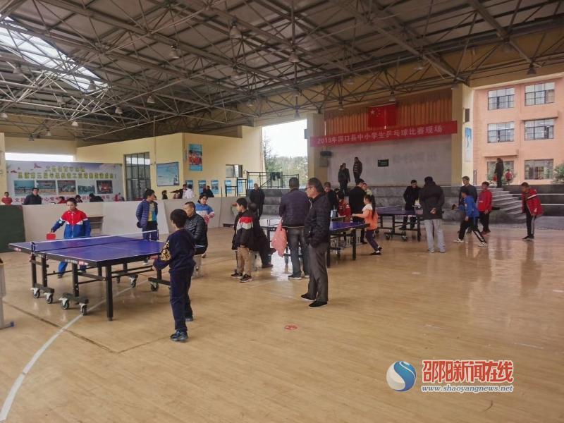 洞口县醪田镇中心小学派学生代表参加县中小学生乒乓球比赛