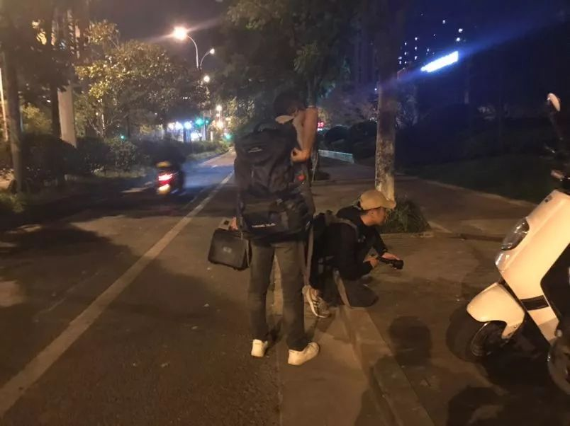 ▲找猫的时候发现了另一只小野猫,两人尝试救助。新京报记者祖一飞 摄