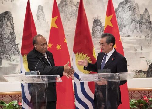 △2019年9月27日,中国和基里巴斯复交。