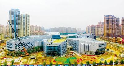 文化艺术中心主体建筑初具雏形