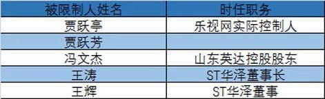 """贾跃亭、牛散文细棠31名资本市场""""老赖""""全名单"""