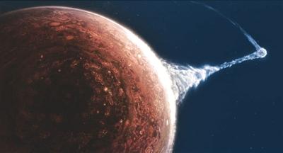 图片为电影《流浪地球》海报。