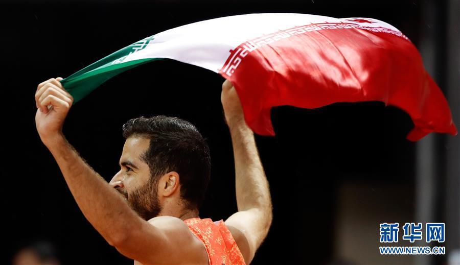 男子100米:伊朗选手哈桑夺冠