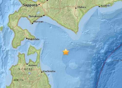 日本北海道南部海域发生5.1级地震