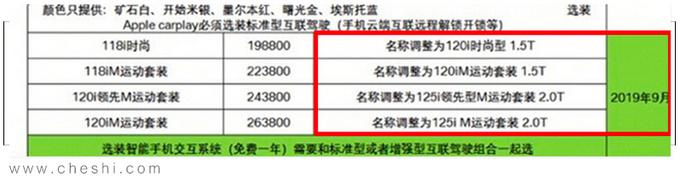 宝马国产新款1系谍照曝光 全系更名-换电子挡杆