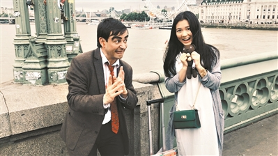 潘靖仪在伦敦街头。