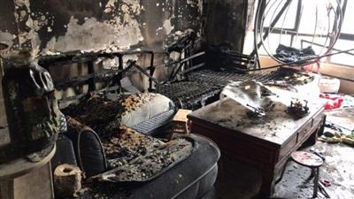发生燃烧的房屋。