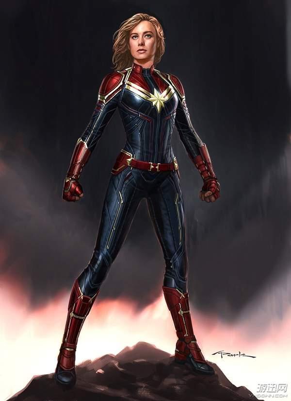 《惊奇队长》全新概念图公布 女神身材姣好,英气逼人