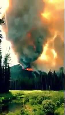 爱达荷州麦考尔的国家森林北部的neatker发生了一场可怕的火灾