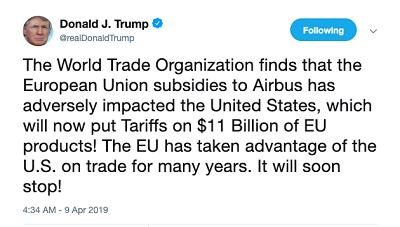 【蜗牛棋牌】欧盟斥责美110亿美元关税规模严重夸大 扬言报复