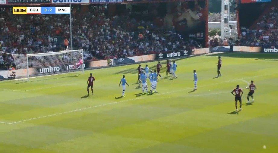 伯恩茅斯1-3曼城,哈里-威尔逊打进精彩任意球