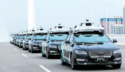 小马智止无人驾驶汽车正在广州停止测试。   小马智止供图