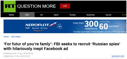 "FBI招募""俄罗斯间谍"" 结果翻车了"
