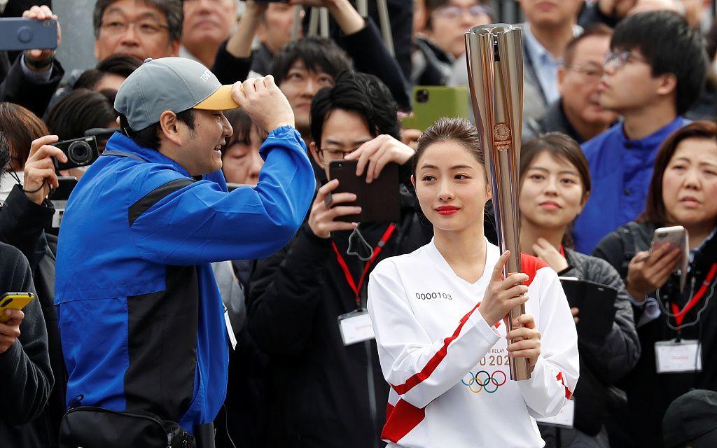 东京奥运火炬手彩排,圣火将于3月26日开始传递图片