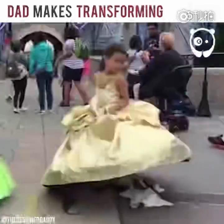 加拿大服装设计师给女儿设计的公主裙,简直太棒,别人家的爸爸。
