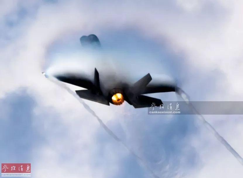 ▲资料图片:F-35A隐身战机高速爬升瞬间