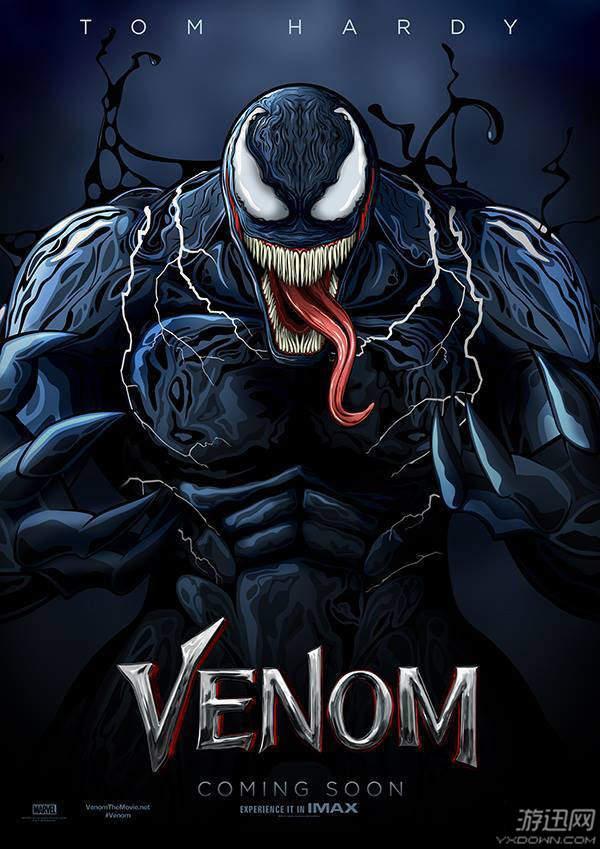 电影《毒液》艺术海报比拼 怪物獠牙长舌惊悚吓人