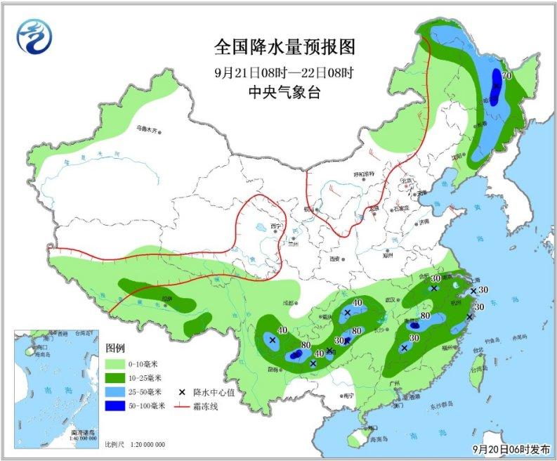 川渝鄂较强降雨持续 冷空气入侵北方地区