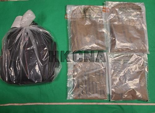 圖:香港海關檢獲懷疑可卡因