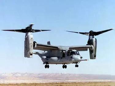 """▲美国V-22""""鱼鹰""""倾转旋翼机"""