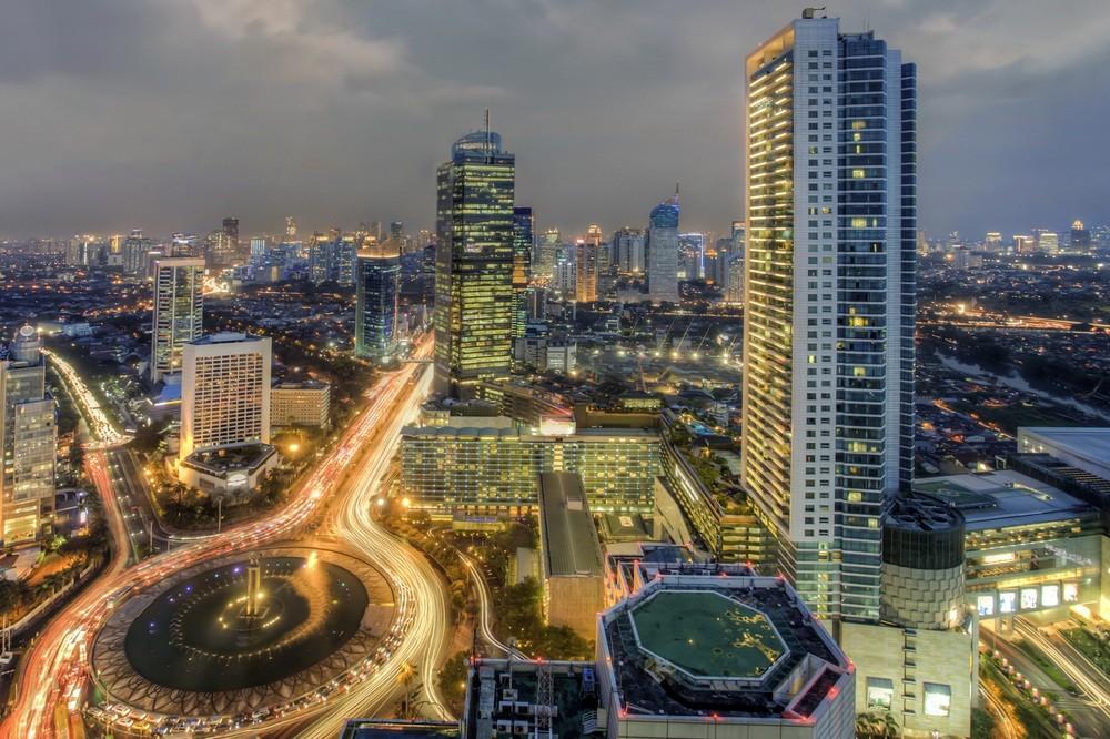 雅加达夜景 图源:《雅加达邮报》