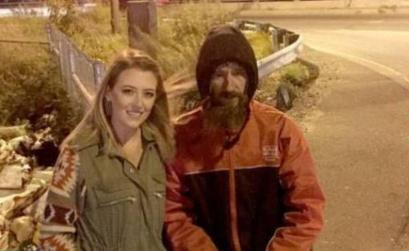 美国一流浪汉在野外救了一名女孩,从此他的人生发生了改变!