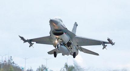 台军F-16战机。(图片来源:中时电子报)