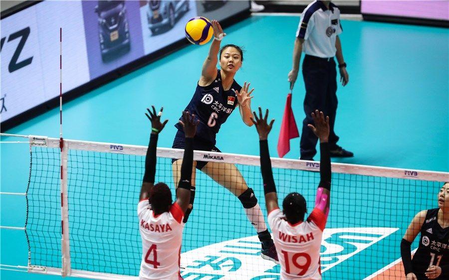 弓虽强 8连胜达成!中国女排3比0轻取肯尼亚队