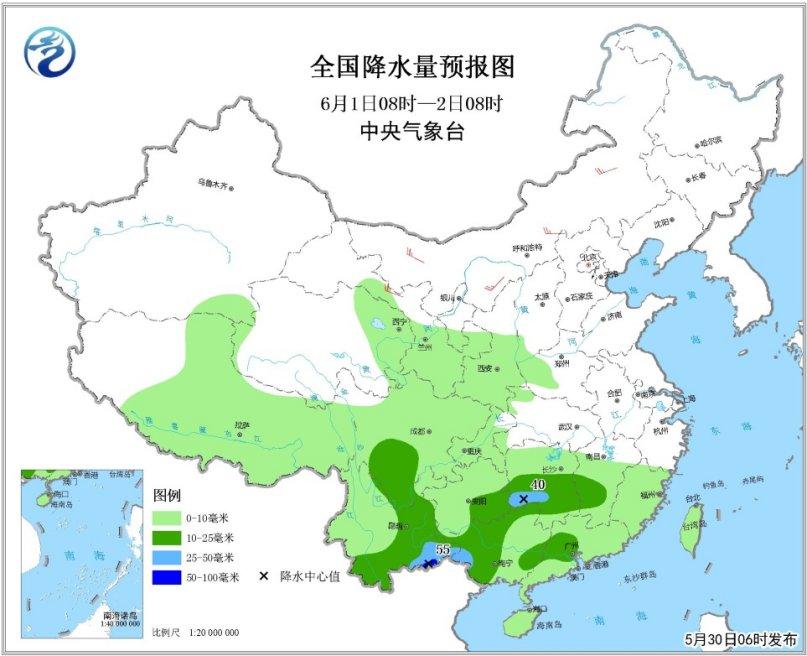 贵州江南等地将有大到暴雨华北东北等地将有高温天气