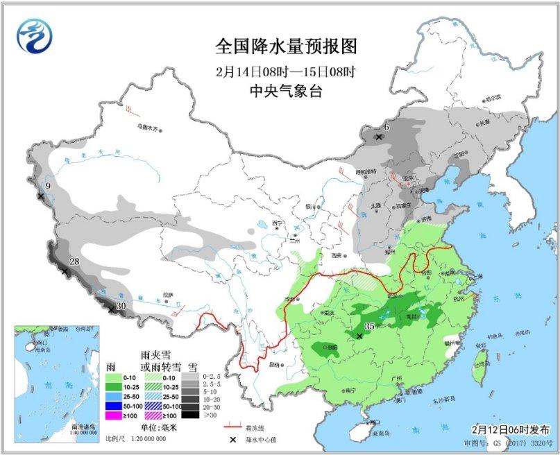 西北地区华北等地将有降雪天气南方多持续性阴雨